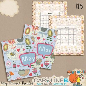 May / Mai A5 Planner Divider / Intercalaire
